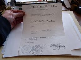 Diplome  Brevet Academy Palms Palmes Académiques Organisation Internationale I.M.O.S. Sphinx - Diploma & School Reports