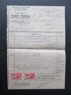 VP FACTURE (M1617) MARCINELLE Rue Habart (2 VUES) FiDèLE MAHIAU Matériaux De Construction 1937 - Belgique