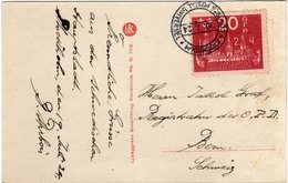 Suede Sverige 1924 VIII UPU Congress Stockholm Special Postcard Cancel Stockholm - UPU (Unione Postale Universale)