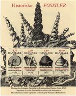 PIA - DANIMARCA -1998 : Fossili E Geologi Danesi  - (Yv Bf 12 ) - Blocchi & Foglietti