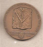 Italia - Medaglia In Bronzo: XXI° Convegno Numismatico Reggio Emilia - 1 Centenario Morte G. Chierici - Botanico - 1986 - Italia