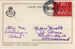 Suede Sverige 1924 VIII UPU Congress Stockholm Special Postcard Cancel Alfarleo - UPU (Unione Postale Universale)