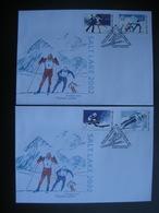 Belarus 2002 Winter Olympics 2002 Salt Lake City Skiing Biathlon Figure Skating Ski Jumping  FDC Weissrussland - Winter 2002: Salt Lake City