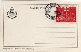 Suede Sverige 1924 VIII UPU Congress Stockholm Special Postcard Cancel Are - UPU (Unione Postale Universale)