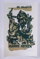 Ex-libris Illustré ALLEMAGNE XXème - Ex Musicis HANNS HEEREN - Musiciens - Bookplates