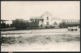 Reproduction Ancienne D'une CPA - Jouy-le-Chatel - La Gare - Voir 2 Scans - Autres Communes