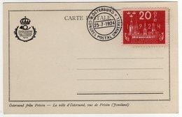 Suede Sverige 1924 VIII UPU Congress Stockholm Special Postcard Cancel Ostersund - UPU (Unione Postale Universale)