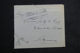 """ESPAGNE - Enveloppe En Franchise Militaire , Cachet """" Censura Militar De San Quintin """" - L 23160 - Franquicia Militar"""