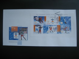 Belarus 2010 Winter Olympics Vancouver Ski Biathlon, Hockey, Freestyle  FDC Weissrussland - Hiver 2010: Vancouver