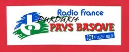 1 Autocollant RADIO FRANCE PAYS BASQUE - Autocollants