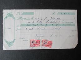 VP REçU (M1617) 350,00fr (2 VUES) 1935 - Belgique