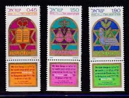 ISRAEL, 1976, Unused Hinged Stamp(s), With Tab, New Year, SG640-642, Scannr. 17468 - Israel