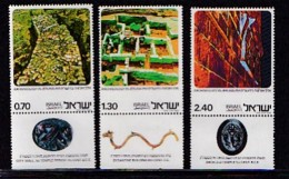 ISRAEL, 1976, Unused Hinged Stamp(s), With Tab, Archeology, SG643-645, Scannr. 17469 - Israel