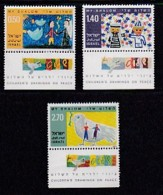 ISRAEL, 1977, Unused Hinged Stamp(s), With Tab, Children's Art, SG659-661, Scannr. 17473 - Israel