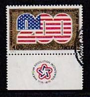 ISRAEL, 1976, Used Stamp(s), With Tab, America Revolution, SG634, Scannr. 17461 - Israel