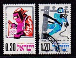 ISRAEL, 1975, Used Stamp(s), Without Tab, Occupation Safety, 2 Values OnlySG592=594, Scannr. 17449 - Israel