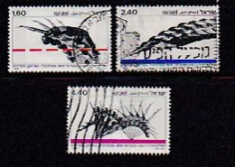 ISRAEL, 1976, Used Stamp(s), Without Tab, Olympic Games Montreal, SG636-638, Scannr. 17467, - Israel