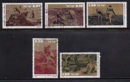 ISRAEL, 1976, Used Stamp(s), Without Tab, Pioneers, SG650-654, Scannr. 17472 - Israel