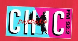 1 Autocollant CHIC FM 92-2 - Autocollants