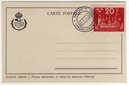Suede Sverige 1924 VIII UPU Congress Stockholm Special Postcard Cancel Rattvik - UPU (Unione Postale Universale)