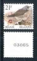 BELGIE * Buzin Rolzegel * Nr R 88  Met NR * Postfris Xx * WIT  PAPIER - Coil Stamps