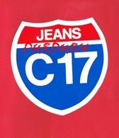 1 Autocollant JEANS C17 - Autocollants