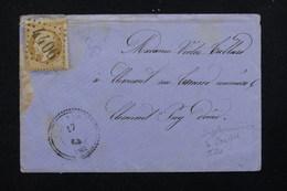FRANCE - Enveloppe De Le Cendre Pour Clermont En 1864 , Affranchissement Napoléon GC 4406 - L 23162 - Marcophilie (Lettres)