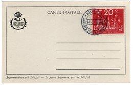 Suede Sverige 1924 VIII UPU Congress Stockholm Special Postcard Cancel Solleftea - UPU (Unione Postale Universale)