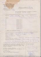 Congo Belge Feuille De Route. - Vieux Papiers