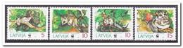 Letland 1994, Postfris MNH, Animals, WWF - Letland