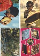 Lot De 4 CPM Afrique En Couleurs - Cartes Postales
