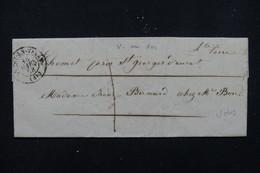 FRANCE - Lettre De Le Puy En Velay Pour Chomet En 1858 , Cursive Au Verso De Saint-Georges-d'Aurac - L 23163 - Marcophilie (Lettres)