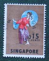 15 C Folk Dance Dancer 1968-1973 Mi 89 YT 85 Used Gebruikt Oblitere SINGAPORE SINGAPUR - Singapur (1959-...)