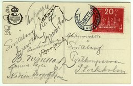 Suede Sverige 1924 VIII UPU Congress Stockholm Special Postcard Cancel Strangnas - UPU (Unione Postale Universale)
