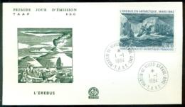 TAAF 1984 FDC L'Erebus  Scott # C78 - FDC