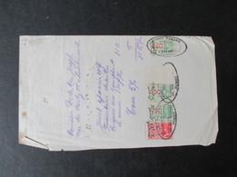 VP REçU (M1617) JUMET (2 VUES) JOSEPH TABARY Fourniture De Milles Briques 1937 - Belgique