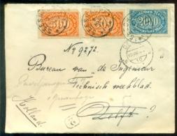Deutsches Reich 1923 Brief Nach Holland Mit Mi 223 (2, Einer Beschädigt) Und 253 - Deutschland