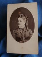 Photo CDV  Walery Rue De Londres Paris  Portrait Femme Belle Coiffure (Mme Renaut Auguste)  CA 1875 - L425A - Anciennes (Av. 1900)