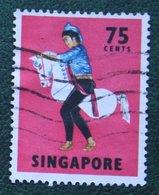 75 C Folk Dance Dancer Horse Pferd 1968-1973 Mi 94 YT 90 Used Gebruikt Oblitere SINGAPORE SINGAPUR - Singapur (1959-...)