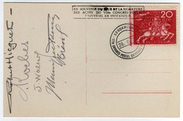 "Suede Sverige 1924 VIII UPU Congress Stockholm Special Postcard Cancel Stockholm ""Signature Des Actes"" - UPU (Unione Postale Universale)"