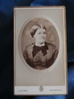 Photo CDV Lopez Rue Condorcet Paris  Portrait Femme (Gd Mère Julienne Née à Fresnay) CA 1885 - L425A - Anciennes (Av. 1900)