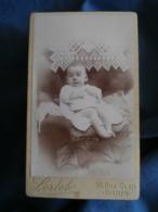 Photo CDV Lortet Rue Cler Paris  Bébé (Germaine Spire 3 Mois Mars 1899 épouse Misault) - L425A - Anciennes (Av. 1900)