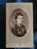 Photo CDV Touranchet Rue De La Paix Paris  Portrait Femme (Mme Gautier) CA 1880 - L425A - Anciennes (Av. 1900)