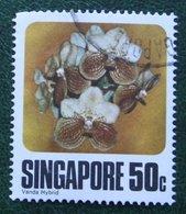 50 C Flower Fleur Blumen Orchid Vanda Hybrid 1979 Mi 327 Used Gebruikt Oblitere SINGAPORE SINGAPUR - Singapur (1959-...)