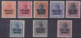 Allemagne,Memel - 8 Timbres Différents - Allemagne
