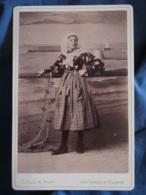 Photo Format Cabinet Collin Aux Sables D'Olonne  Femme En Costume Régional (Marguerite Mallard 1893) - L419 - Anciennes (Av. 1900)