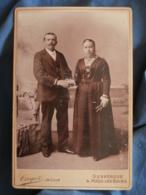 Photo Format Cabinet Cayez De Lille Malo Les Bains  Couple élégant Se Tenant Par La Main  CA 1890 - L419 - Anciennes (Av. 1900)