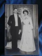 Photo Format Cabinet Sans Mention Photographe  Couple De Mariés (Gds Parents Dillon Née Torades) CA 1900 - L427 - Anciennes (Av. 1900)
