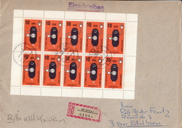 Germany / DDR Sheetlet On R Cover - Sciences