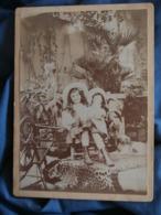 Photo Format Cabinet Cliché Max Chenot  Fillette Grande Poupée, Rouet, Peau Léopard (Gilberte à Tours 1908CA 1900 - L427 - Personnes Identifiées
